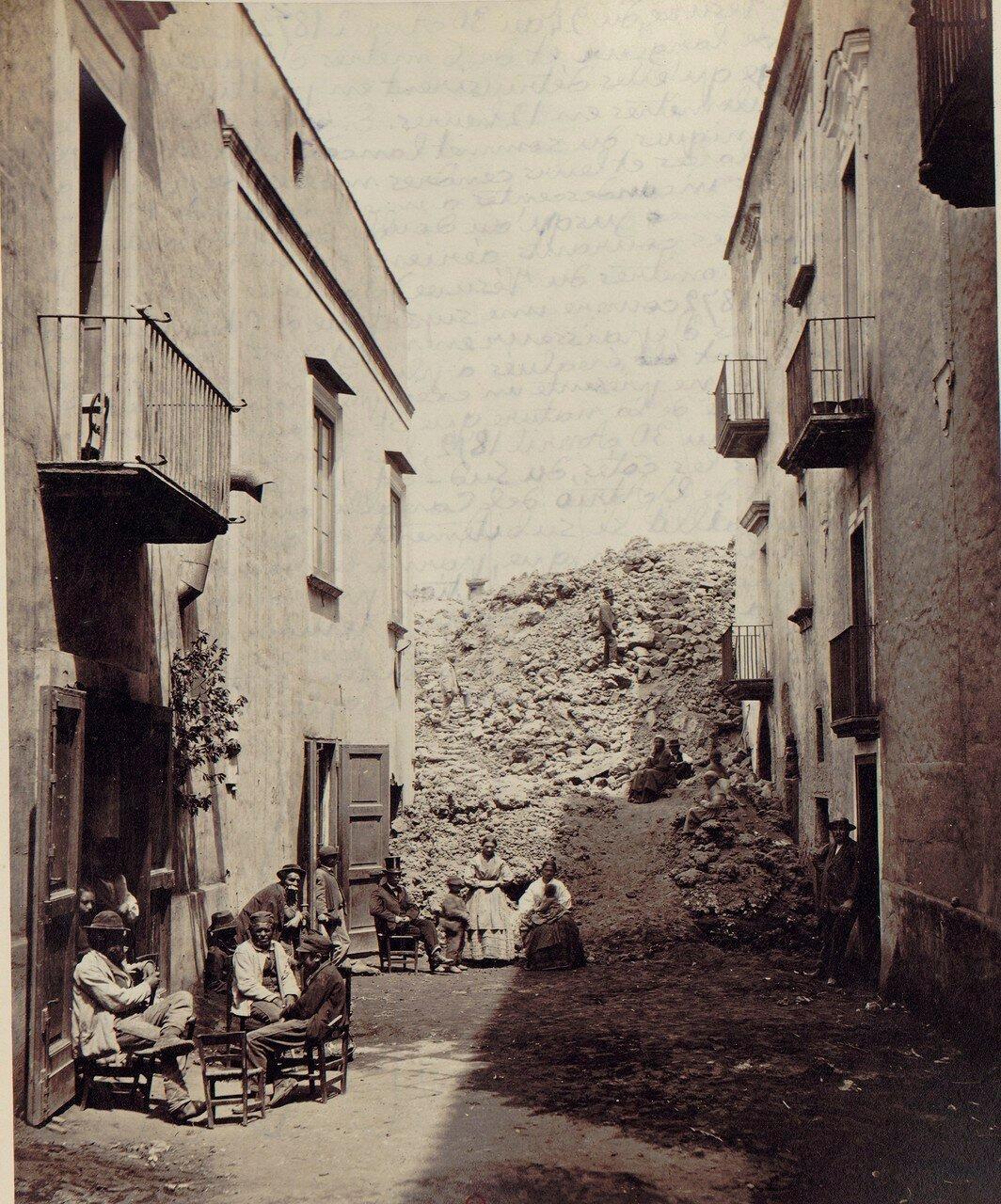 89. Окрестности Неаполя. Сан-Себастьяно, разрушенный извержением 1872 года. Лава перемещалась со скоростью 5 километров за 12 часов