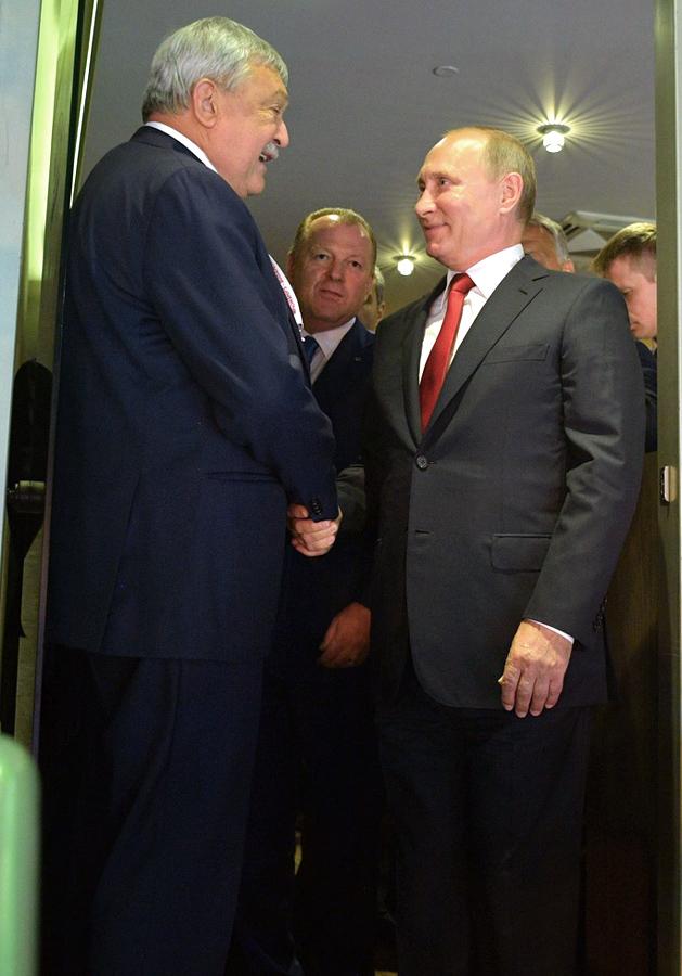 Путин Владимир Владимирович на открытии 31-го чемпионата мира по дзюдо, 28 августа 2017 года Будапешт.
