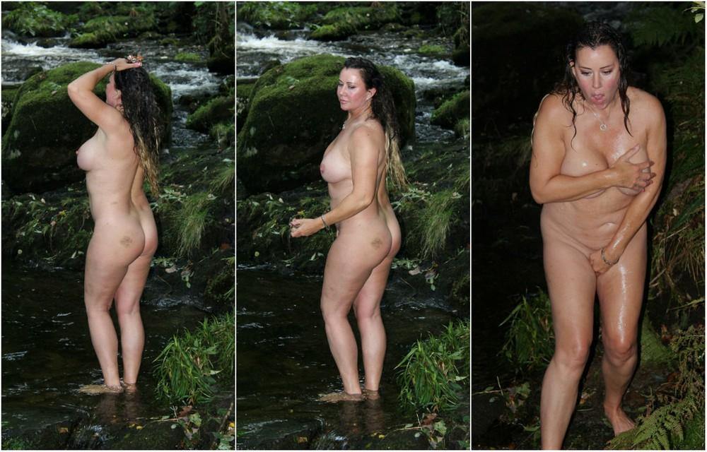 Лиза Эпплтон полностью разделась в лесу у ручья