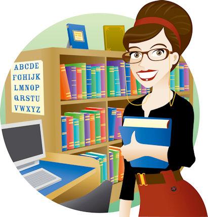 Открытки. Международный день школьных библиотек. Библиотекарь