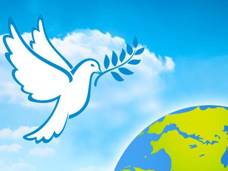 21 сентября - Международный день мира. Голубь на Земли