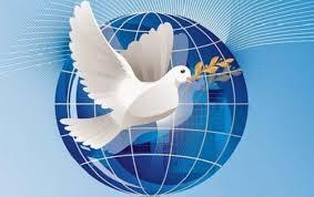 21 сентября Международный день мира. Голубь с ветвью на фоне земли открытки фото рисунки картинки поздравления