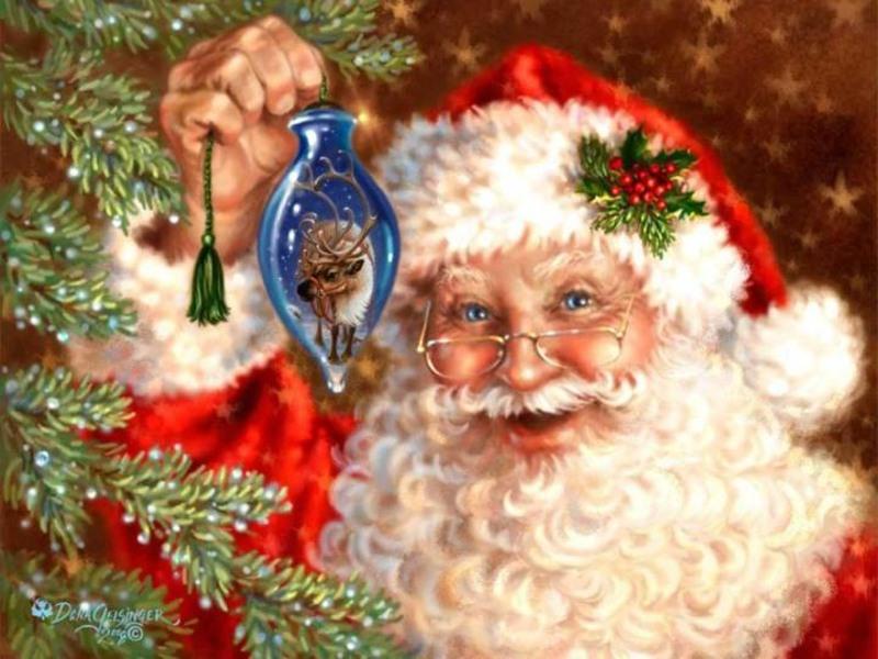 Открытка. День Рождения Деда Мороза. С праздником!