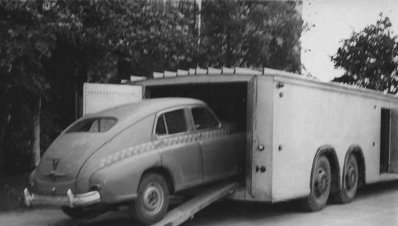 Экспериментальный автопоезд для перевозки легковых автомобилей А-820