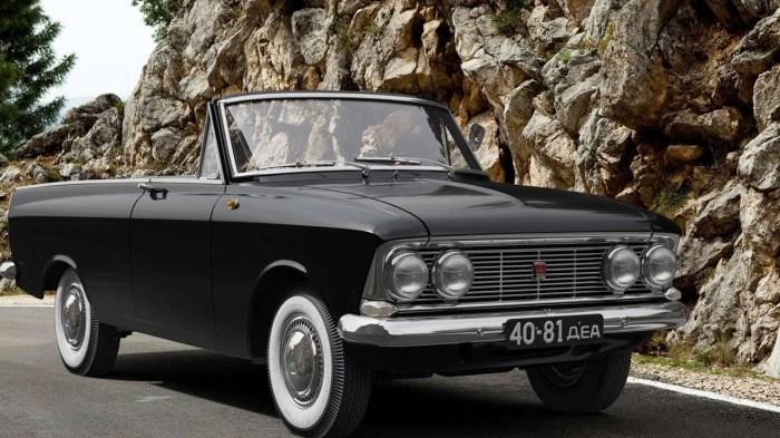 Настоящий советский кабриолет! Данный автомобиль появился еще в 1964 году. Автомобиль был с очень не