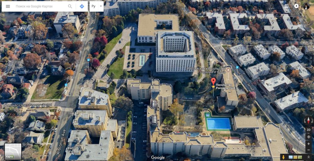 Ну а сегодня следить можно не выходя из дома. В США гугл-карты давно предлагают спутниковые 3D-панор