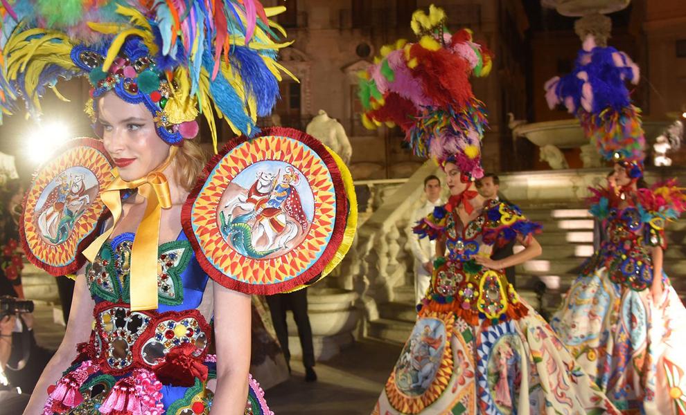 Шоу Dolce & Gabbana Alta Moda в Палермо (31 фото)