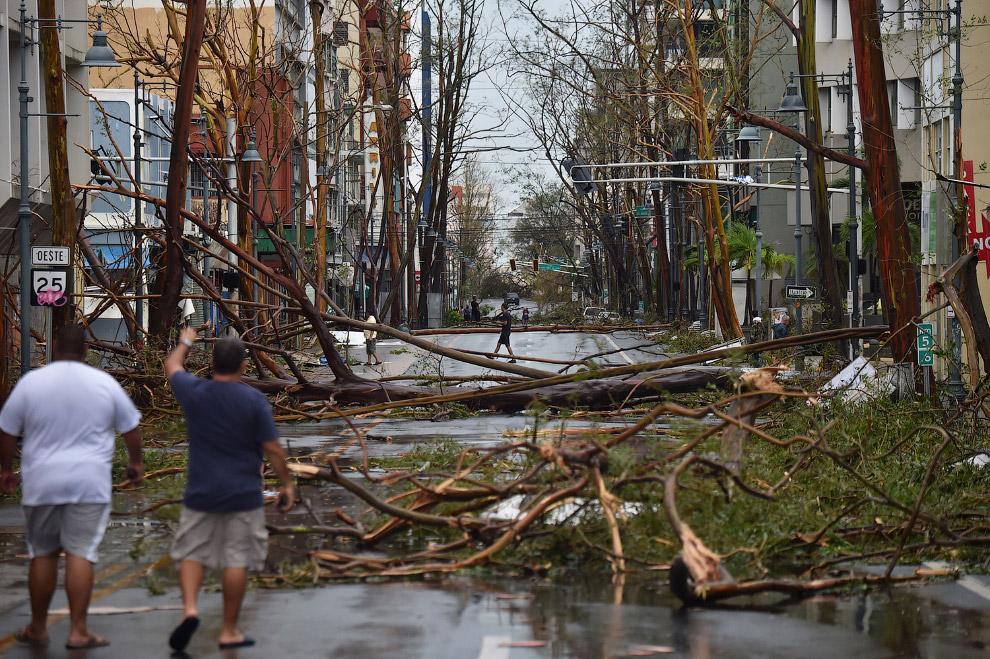 К моменту прихода в Пуэрто-Рико «Мария» ослабла до четвертой категории, но и это достаточно опасный