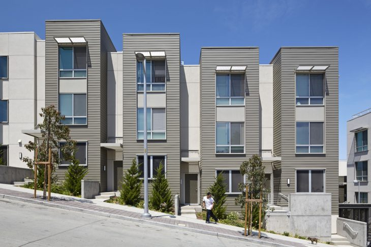 These two new blocks of affordable family housing at Hunters View are part of the first phase of San