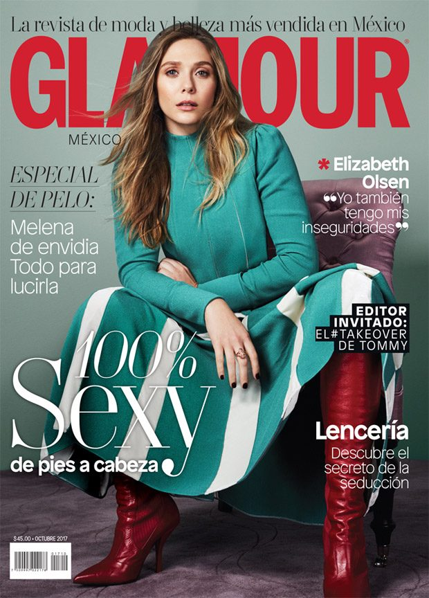American actress  Elizabeth Olsen  takes the cover story  Glamour Mexico
