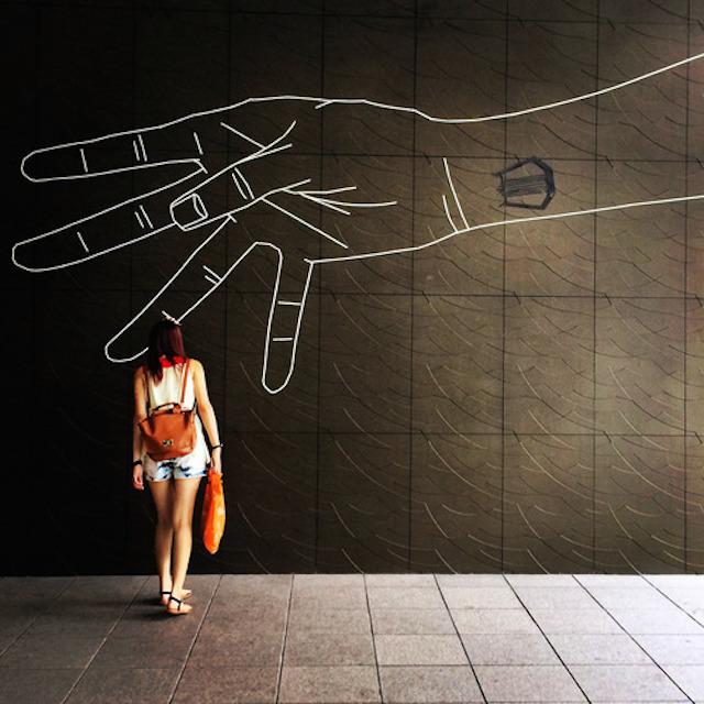 Masking Tape Street Art