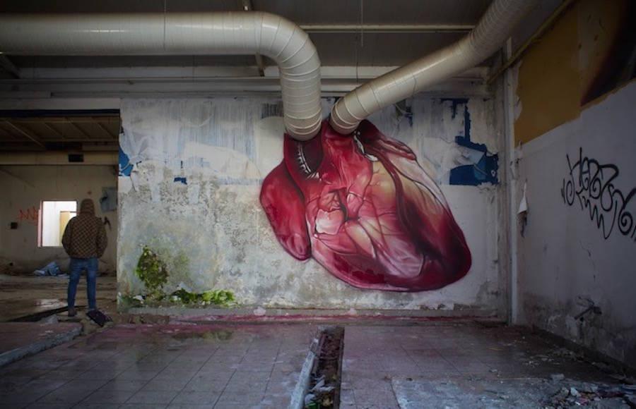 Hearbeat Mural by Lonac