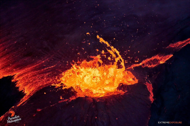 Лава вулкана Килауэа Гавайи 09. 01. 2018
