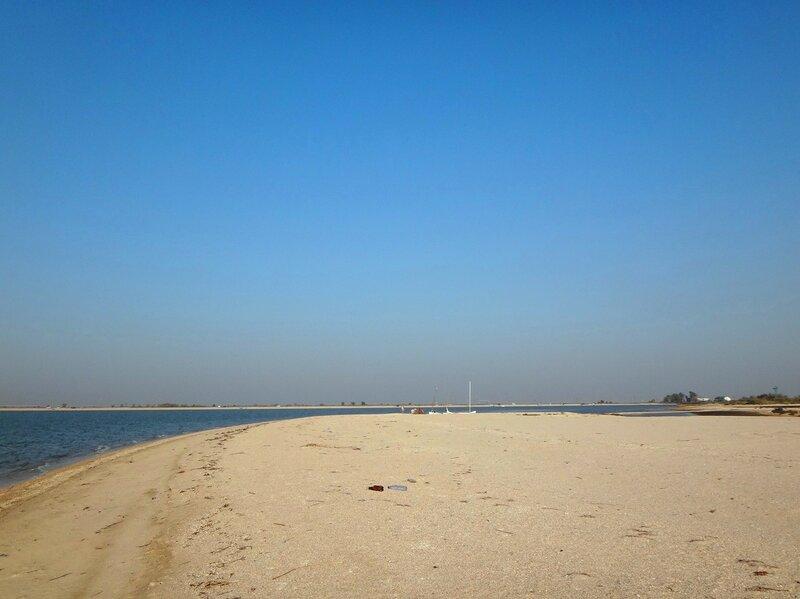 Прощальный взгляд на пролив и яхты ... 39. Фото из велокольца. Ахтари-Староминская-Бейсугский пролив (232).JPG