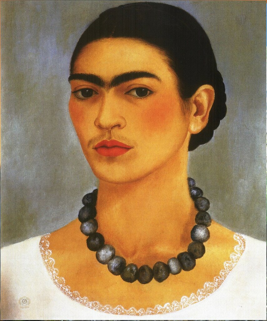 Фрида Кало – Автопортрет с ожерельем, 1933.jpg