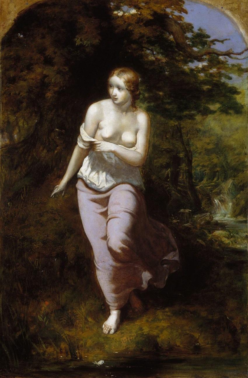 1848-1849 Мусидора перед купанием (Musidora Bathing) Бирмингем, Музей и Художественная галерея.