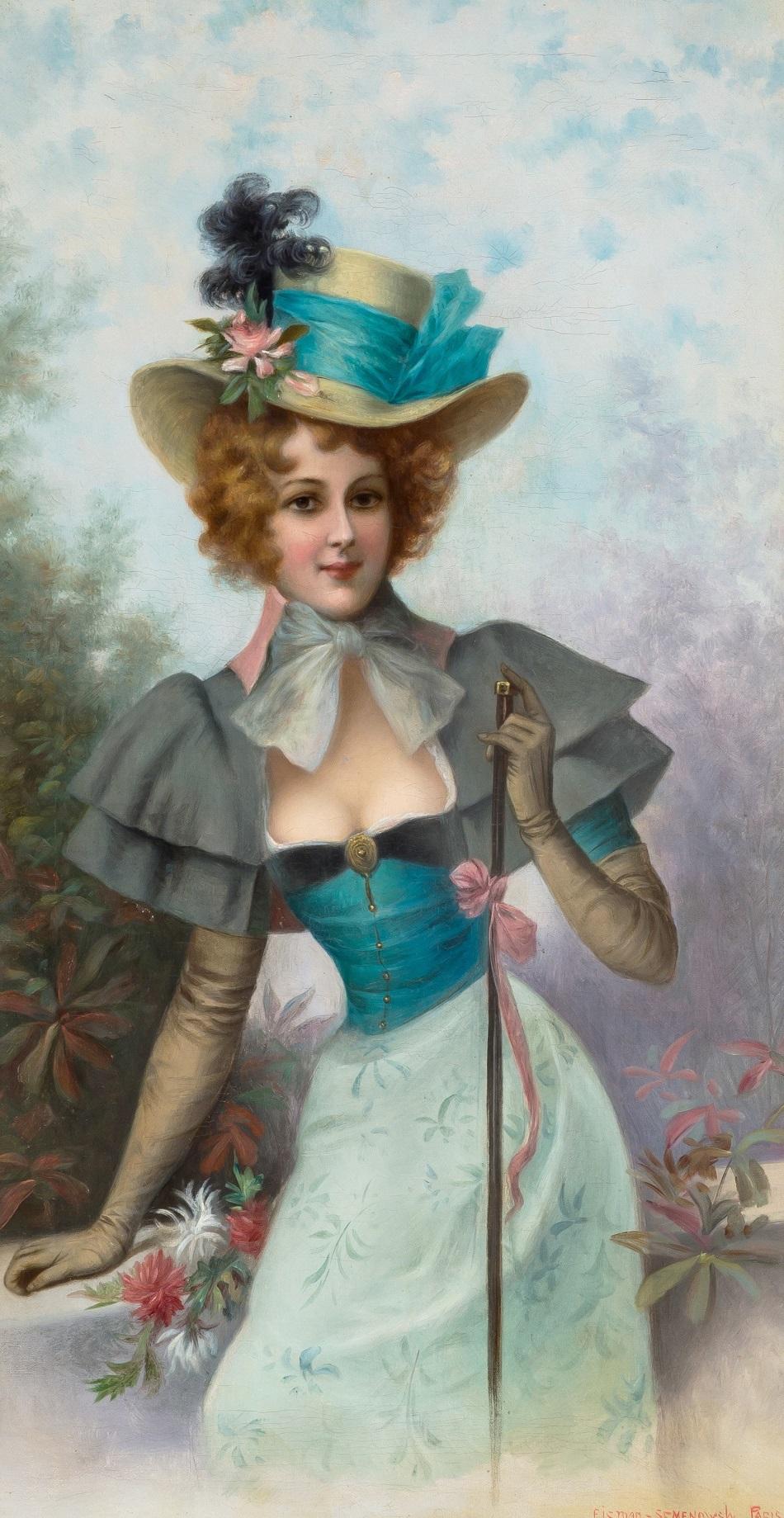 EMILE EISMAN-SEMENOWSKY (POLISH-FRENCH 1857-1911)The Dandizette..jpg