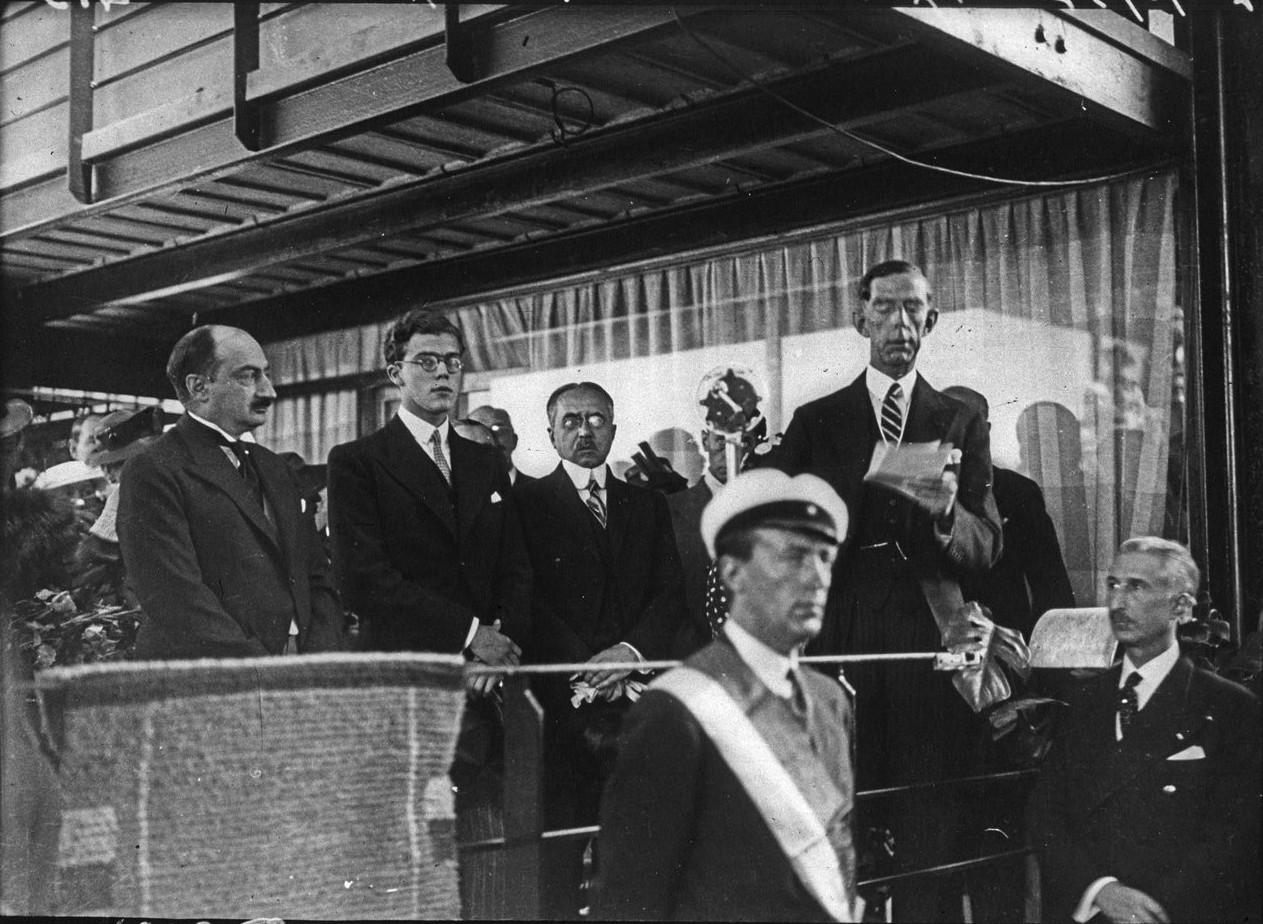 Церемония открытия шведского павильона. Выступление шведского принца Уильяма, герцога Судермании (6 июня 1937)