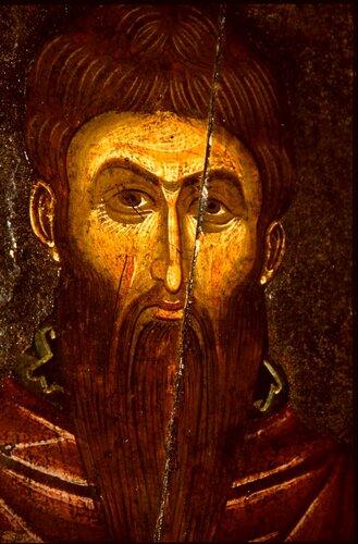 Святой Равноапостольный Наум Охридский. Икона. Охрид, XIV век. Лик.