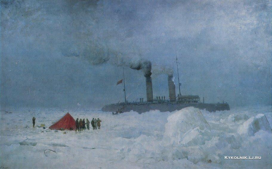 Вялов Константин Александрович (1900-1976) «Спасение советским ледоколом Красин итальянской экспедиции Нобиле в 1928 году» (1957)