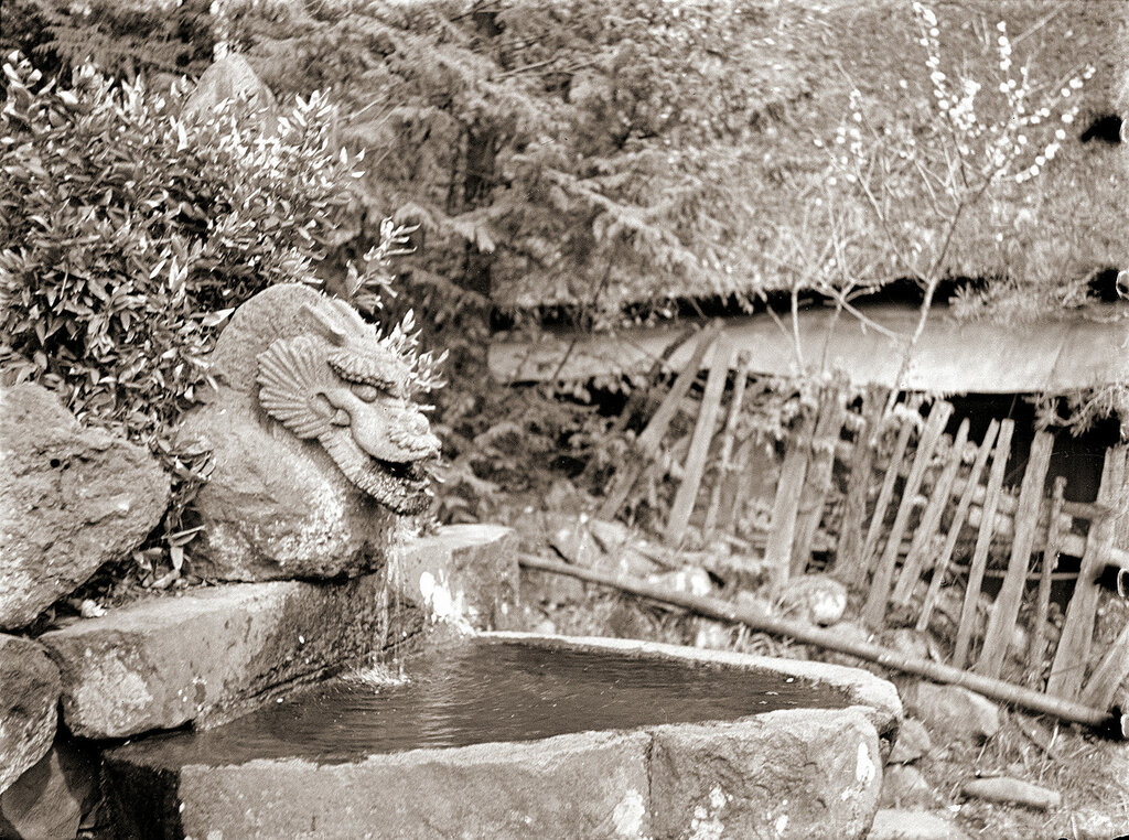 Stone Dragon Fountain, 1930s Japan.