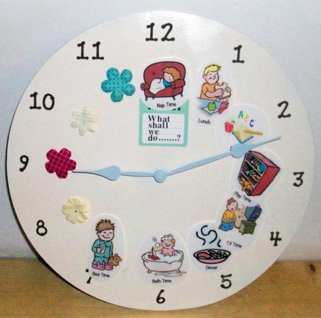 10. Визуальные подсказки на часах, что и в какое время нужно делать, очень помогут малышам самостоят