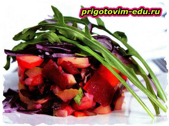 Винегрет из печеных овощей