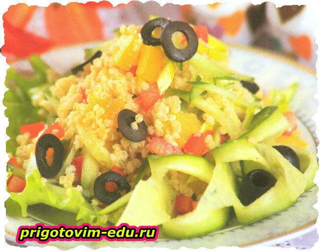 Салат из огурцом с кус-кусом
