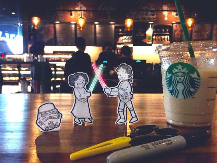 Doodle Deux - A couple replaces selfies with some adorable doodles