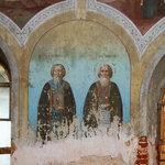 """Фреска """"Преподобные Андрей и Иоанн""""."""