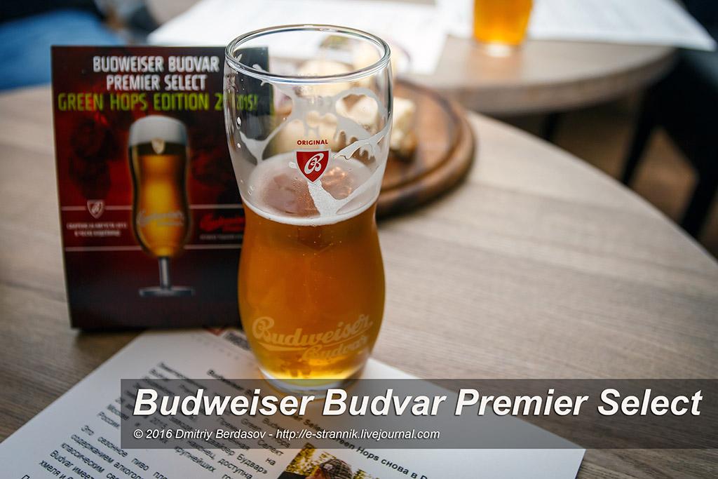 Budweiser Budvar Premier Select Зеленый Хмель
