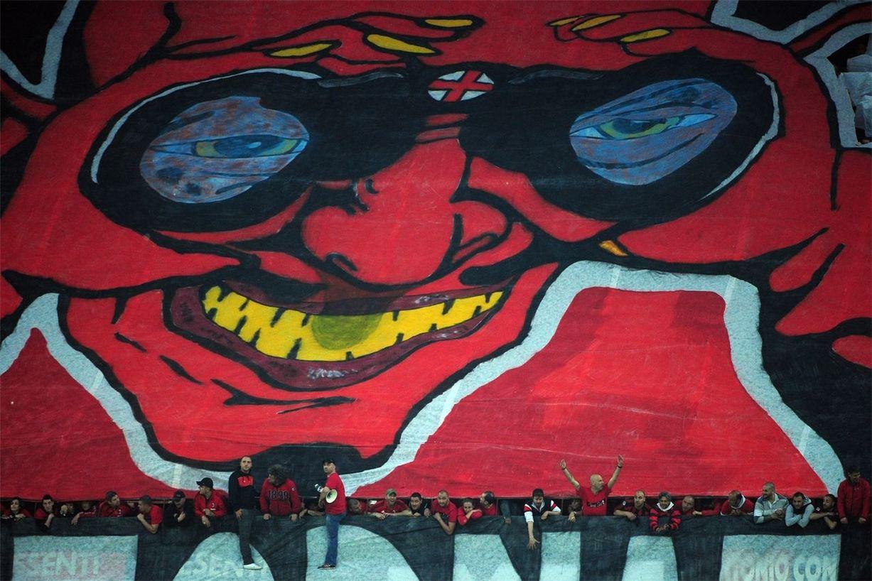 Soccer tifos / Гигантские баннеры футбольных болельщиков со со стадионов по всему миру - AC Milan