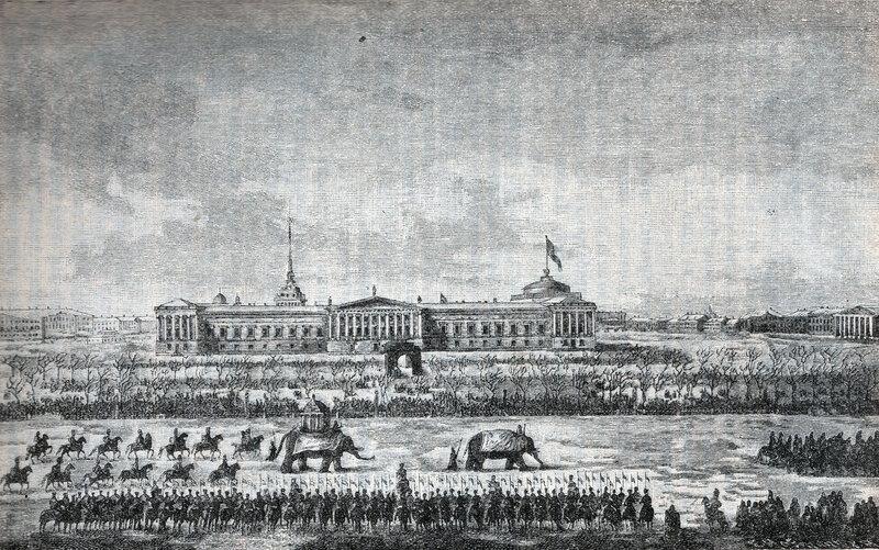 453687 Вид Адмиралтейства и Дворцовой площади Максим Никифорович Воробьев 1816—1820