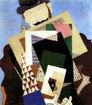 Иван Пуни «Человек с дыней» 1922 г.