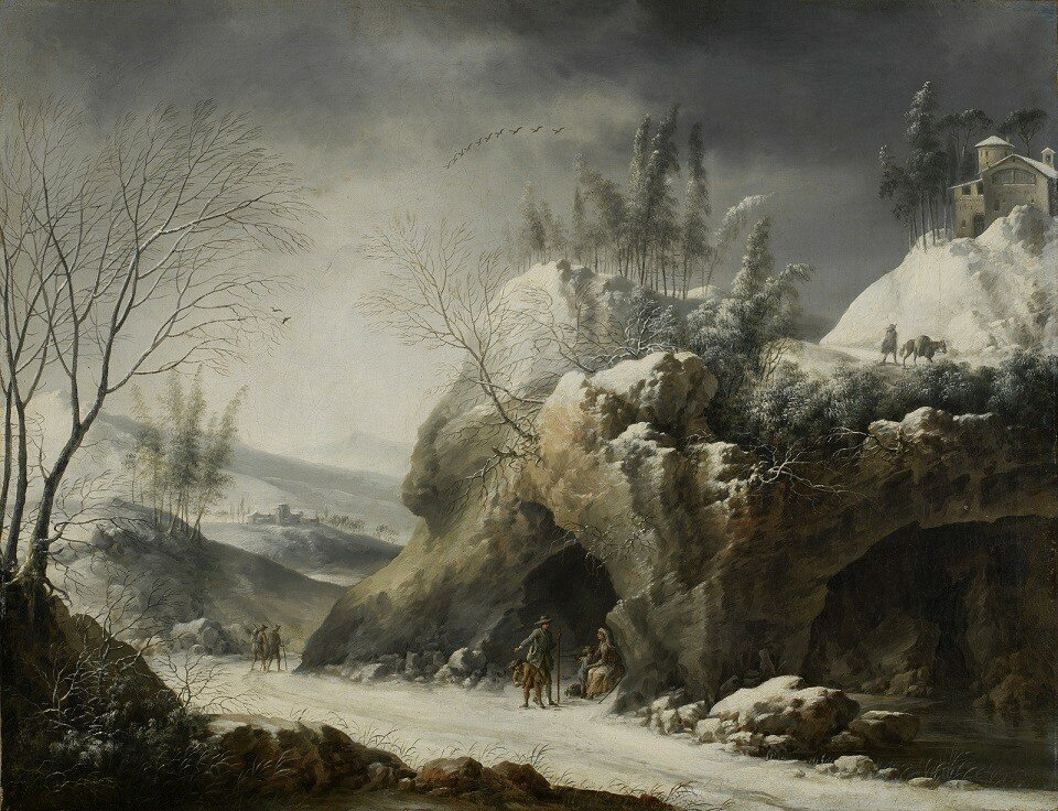 1750-1780_Зимний пейзаж с крестьянской семьей (Winter Landscape with a Paseant Family)_48 х 62_х.,м._Мадрид, Музей Тиссен-Борнемисы_обработано.jpg