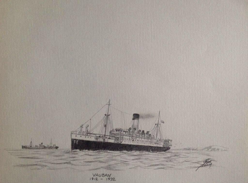 Lamport & Holt Liner, VAUBAN ran between UK and South America pre WW2.