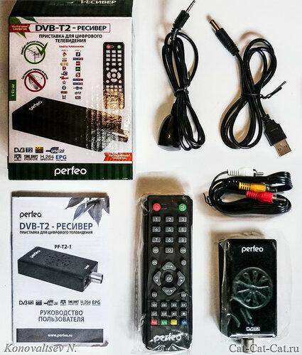 Комплектация DVB-T2-ресивер Perfeo PF-T2-1(ТВ-Тюнер)