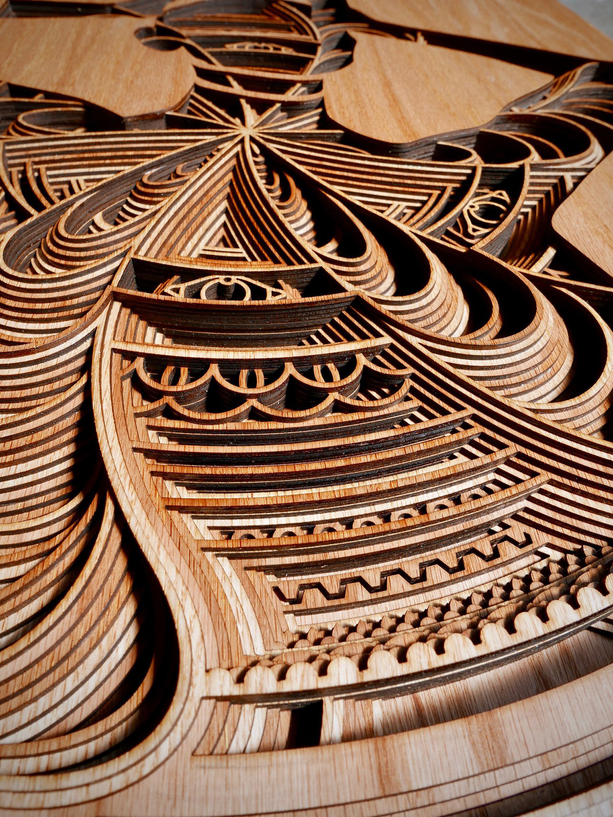 Mesmerizing Laser Cut Wooden Sculptures