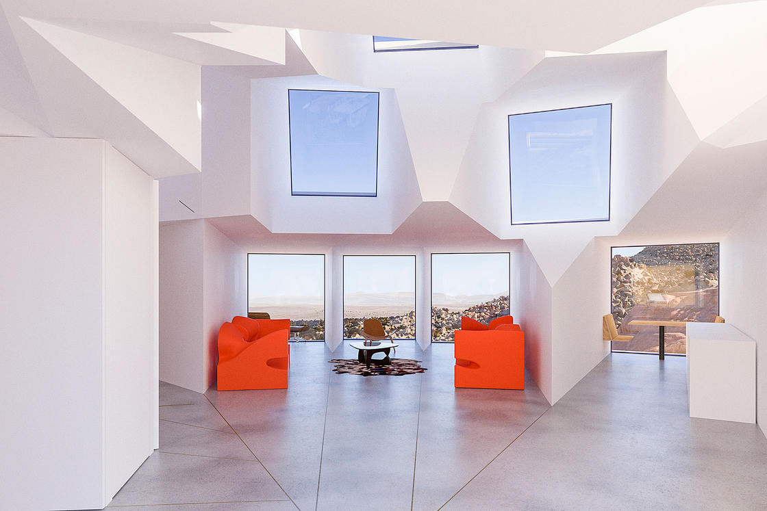 Joshua Tree – An amazing geometric house built from containers