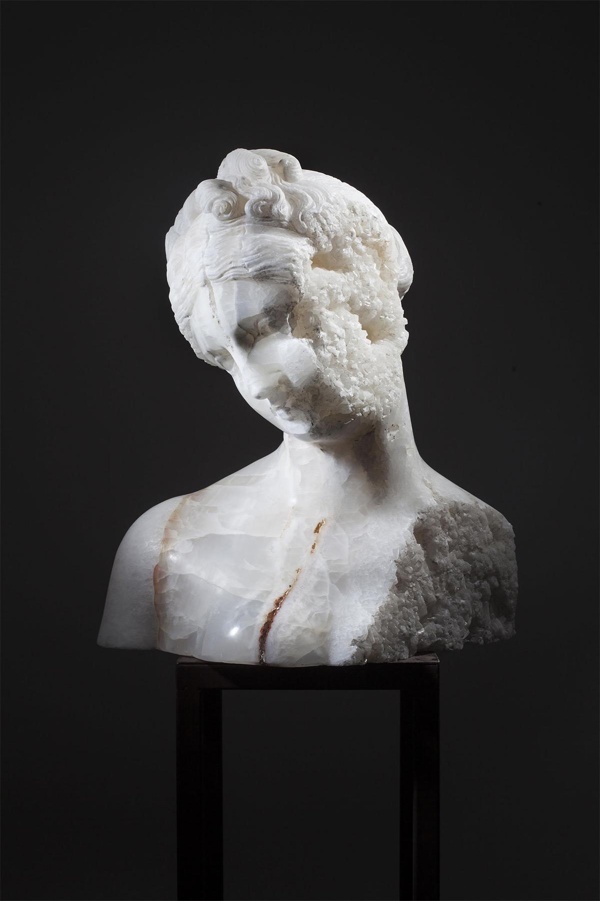 Crystal Venus, 2016. White Onyx. 56x40x61h cm