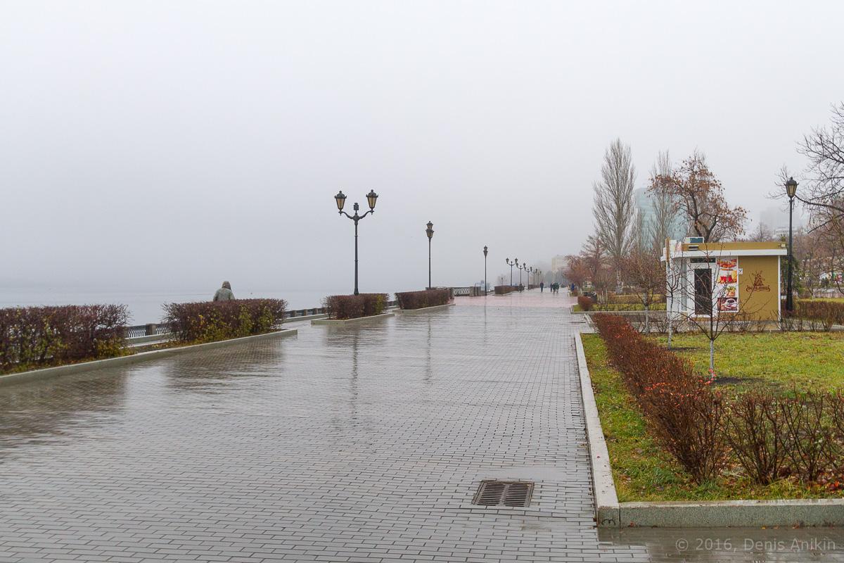 Самара набережная туман фото 6