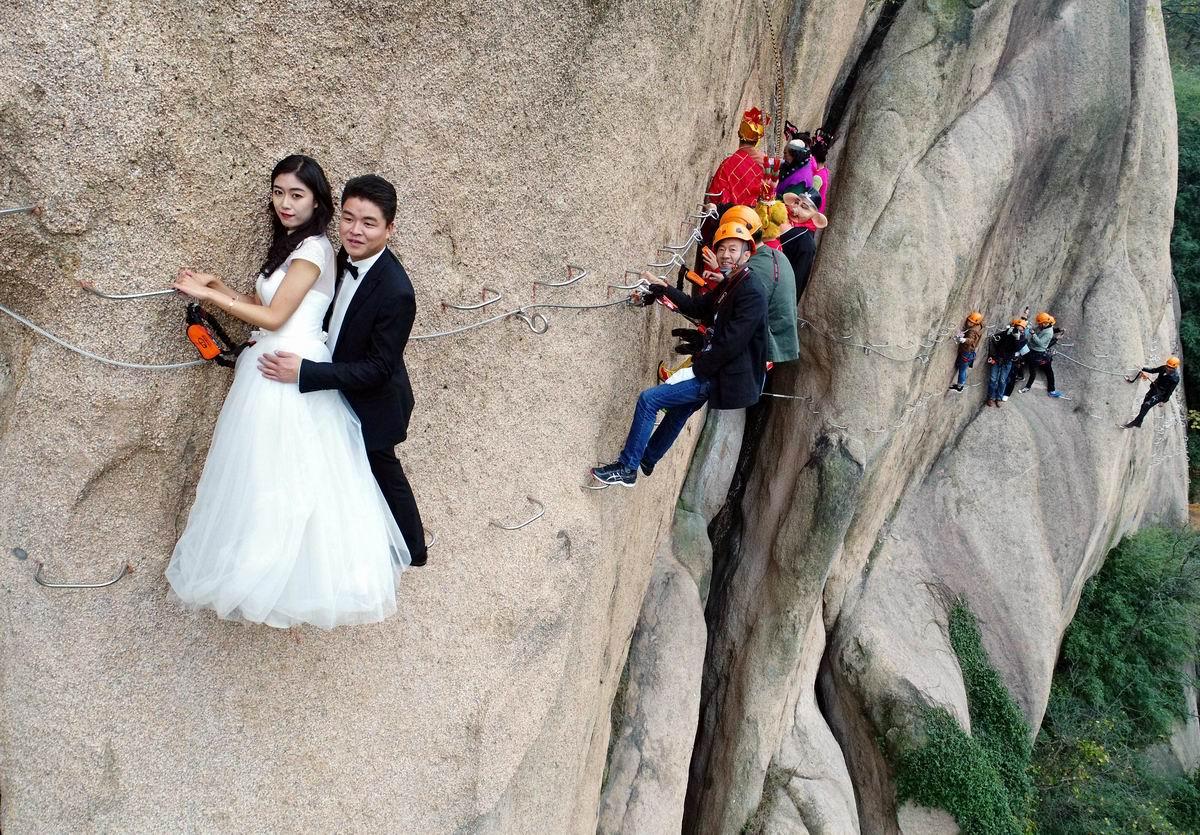На краю бездонной пропасти: Китайский свадебный экстрим