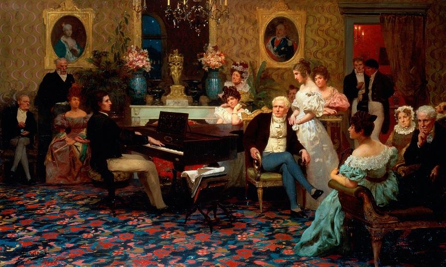 1887 Шопен, играющий на рояле в салоне принца Радзивилла Частное собрание