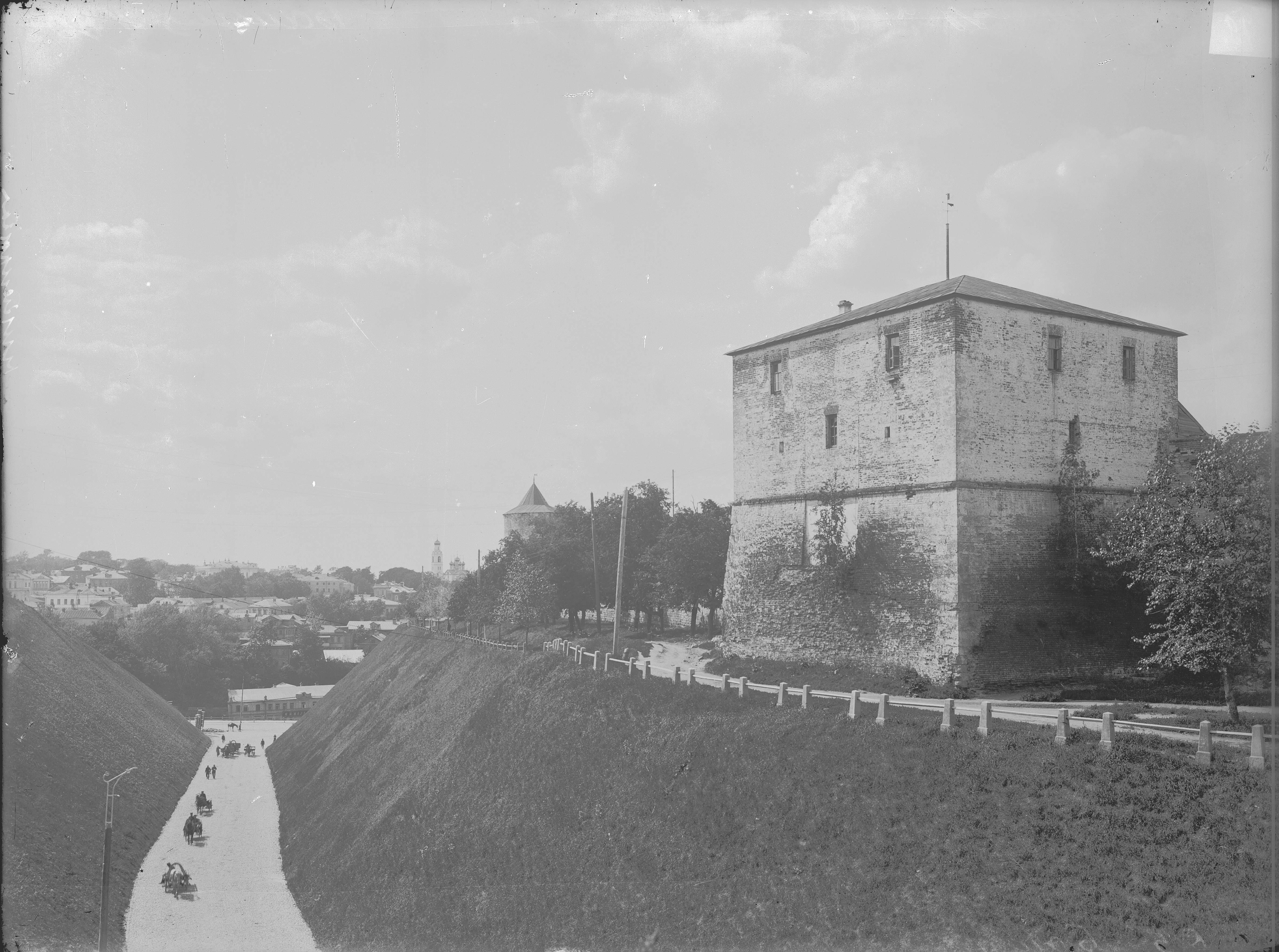 Вид на Зеленский съезд и кремлевскую стену