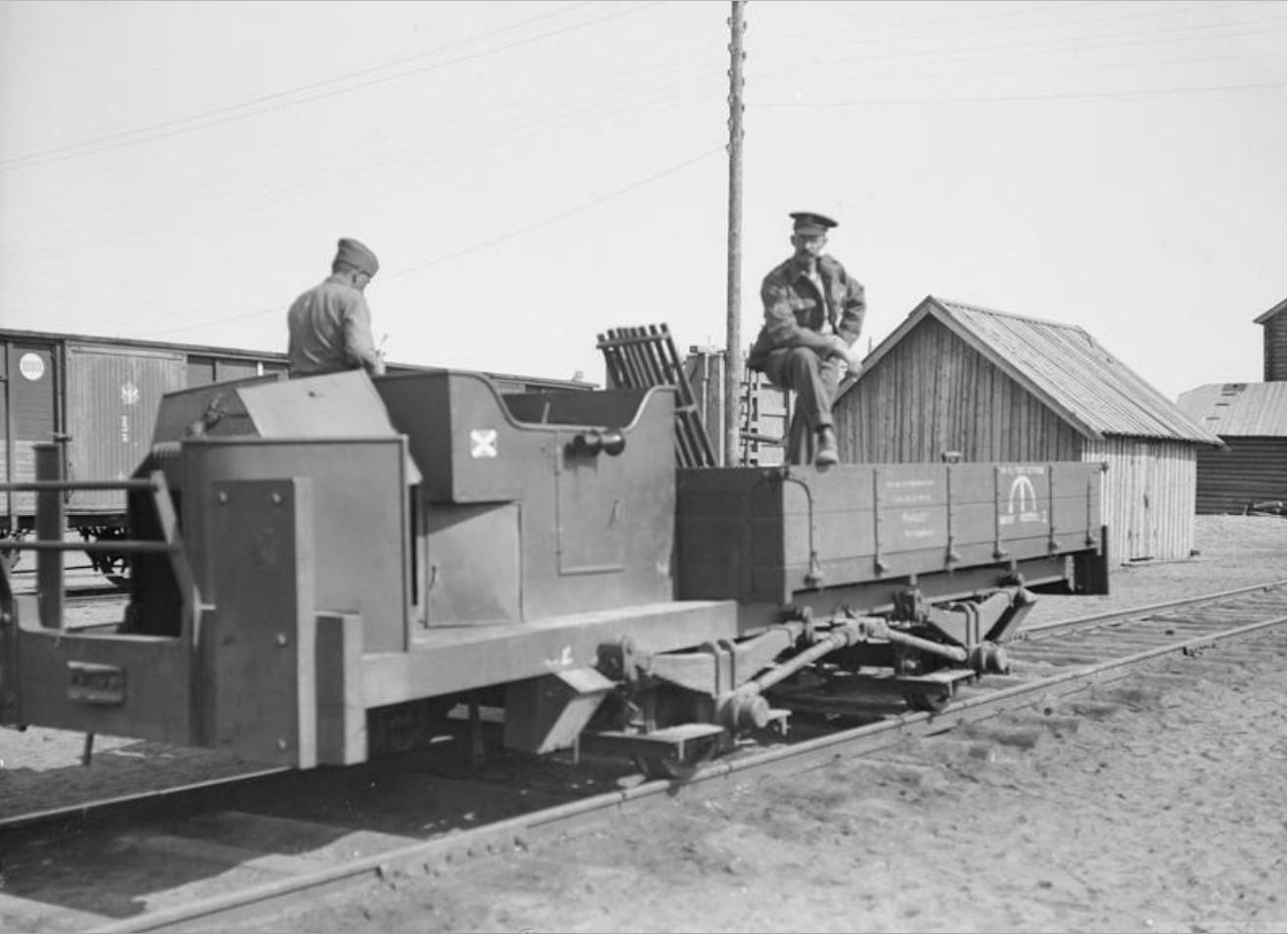 1919. Пример рельсовой тележки, Медвежья Гора