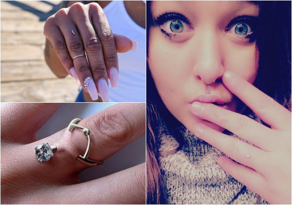 Пугающий способ носить бриллианты — пирсинг пальца