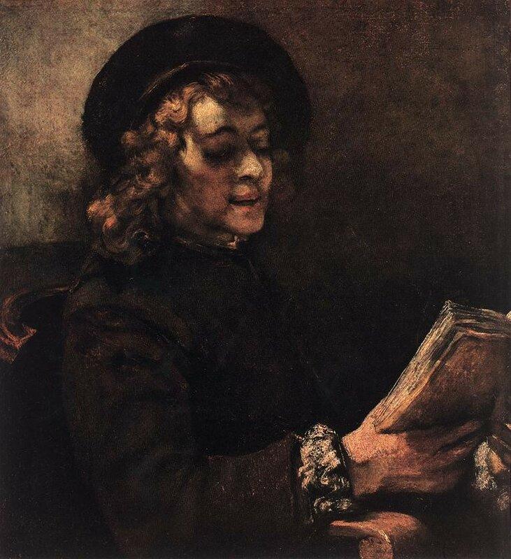Читающий Титус, сын художника, 1657.