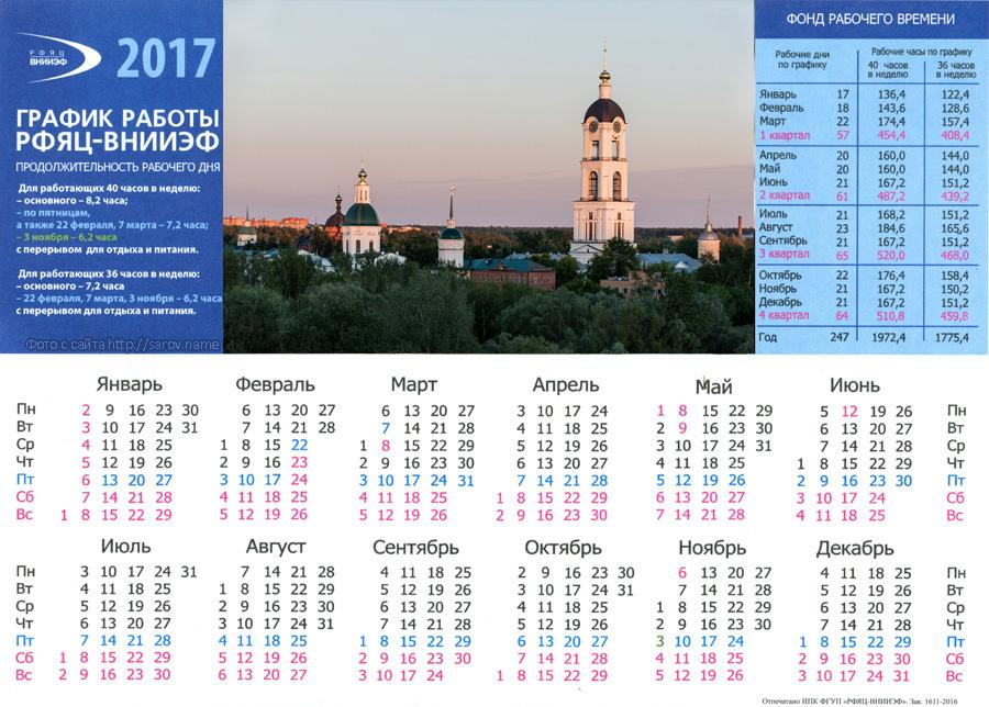 график работы саровского ядерного центра на 2017 год