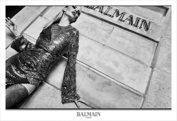 Рекламная кампания женской одежды от Balmain