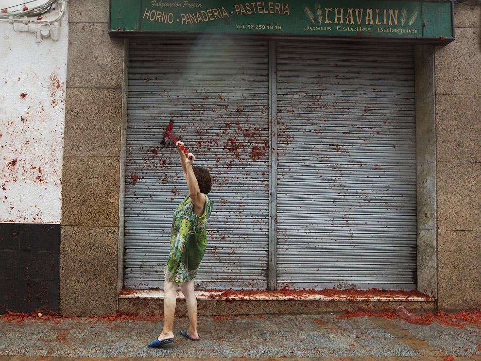 12. Ла Томатина 2017, Испания, 30 августа. Вроде все довольны. (Фото Pablo Blazquez Dominguez):